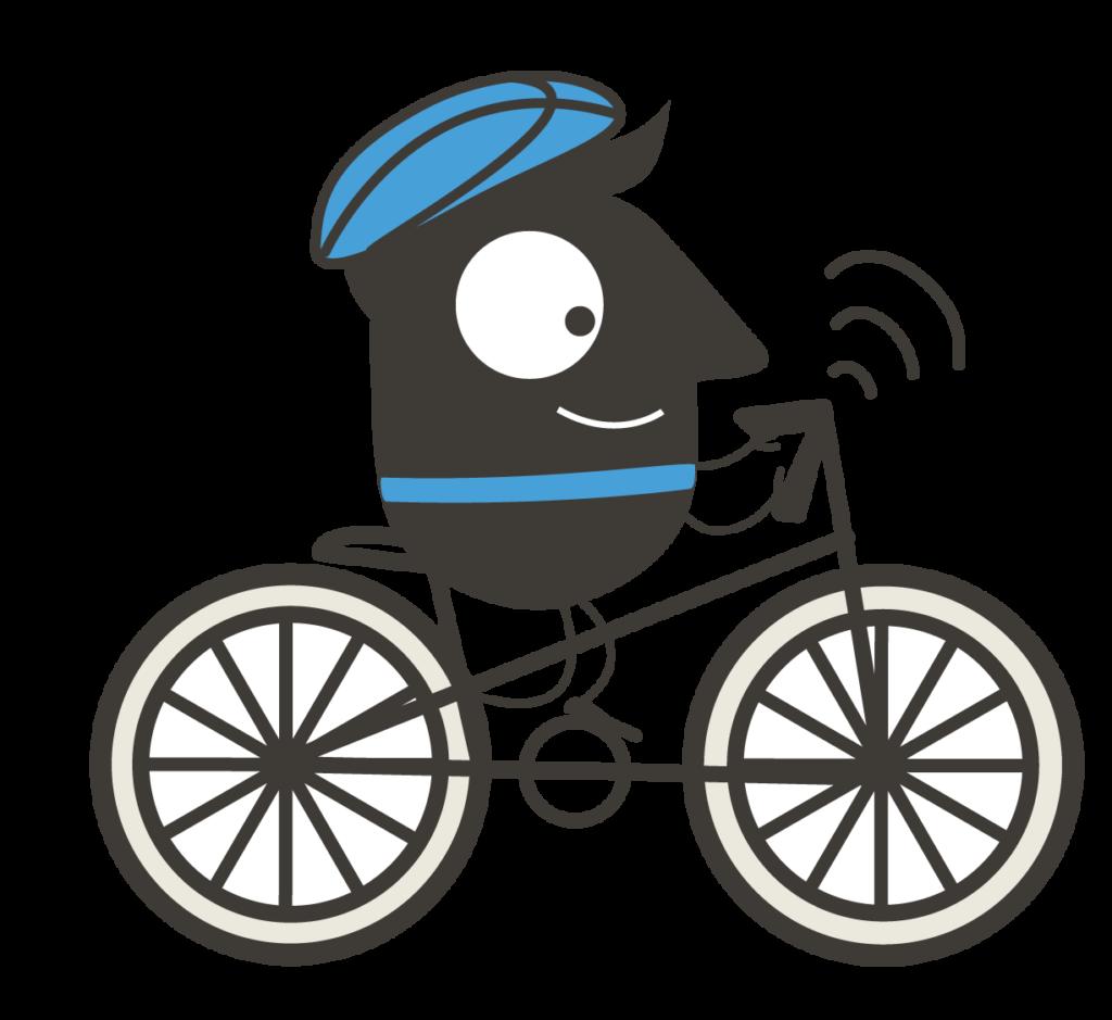 Designelement der Europäischen Mobilitätswoche (Biker)